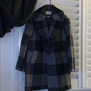 Women's Plaid Wool Blend Coat